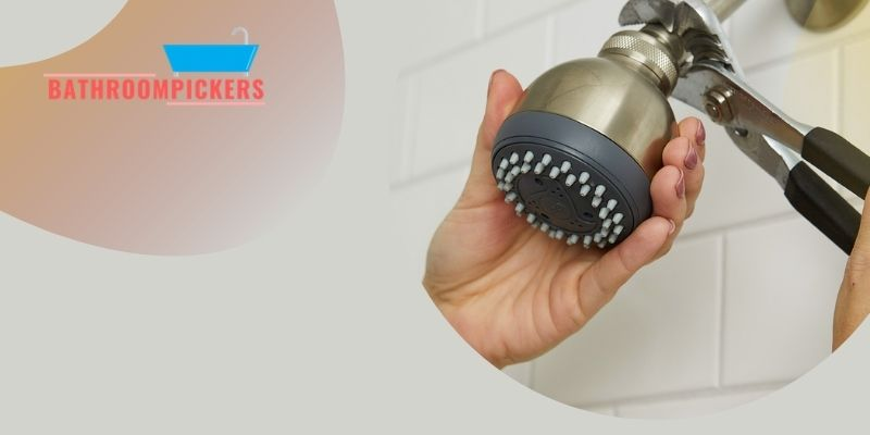 removing glued on shower head