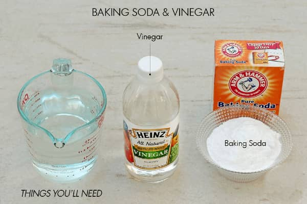 Vinegar and Baking Soda or unclogging drains and dissolving hairballs